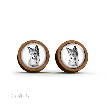 Wooden earrings - Lis - Into the wild - sticks