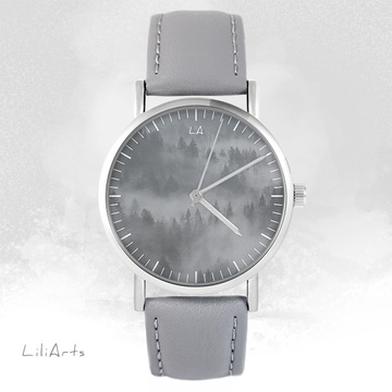 LiliArts - Into The Wild watch - gray, leather