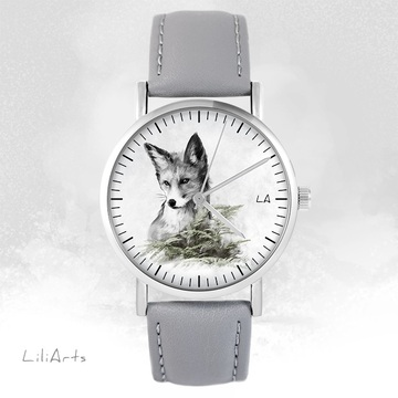LiliArts - Lis - Into The Wild watch - gray, leather