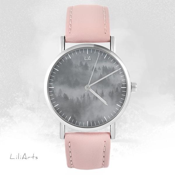 Zegarek LiliArts - Into The Wild - pudrowy róż, skórzany