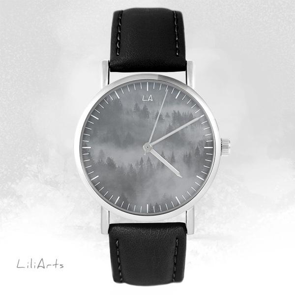 Zegarek LiliArts - Into The Wild - czarny, skórzany