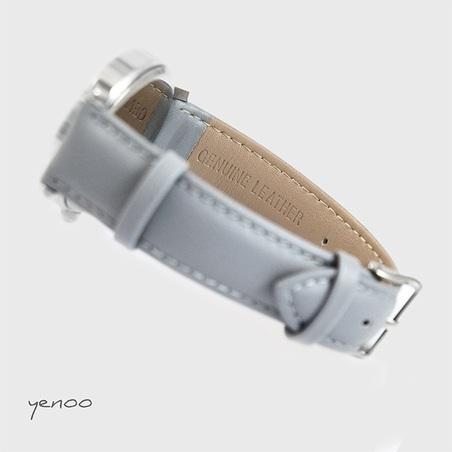Fashion watch, Bracelet - Grey feathers - grey
