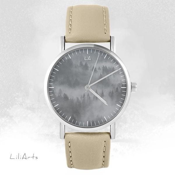 Zegarek LiliArts - Into The Wild - beżowy, skórzany