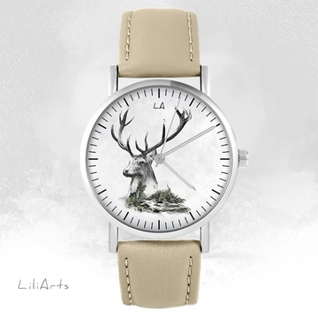 Watch LiliArts - Deer - Into The Wild - beige, leather