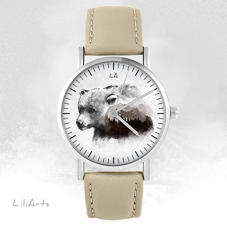 Watch LiliArts - Bear - Into The Wild - beige, leather