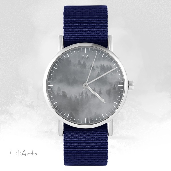 LiliArts watch - Into The Wild - navy blue, nato