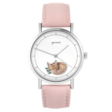 Yenoo watch - Lisek - powder pink, leather