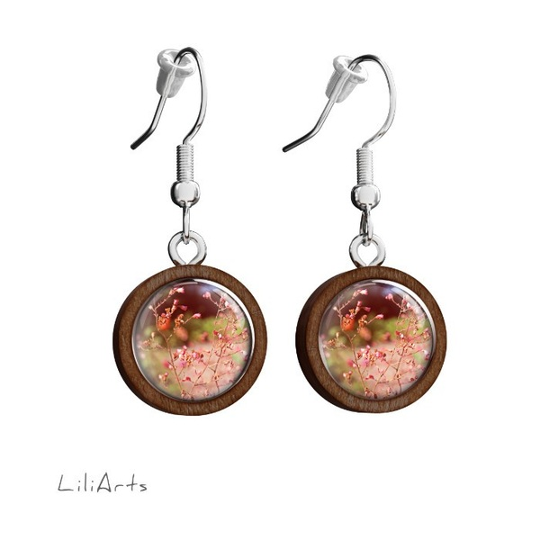 Wooden earrings LiliArts - Summer - hanging