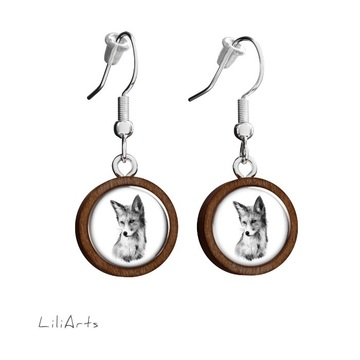 Wooden earrings LiliArts - Lis - Into the wild - hanging
