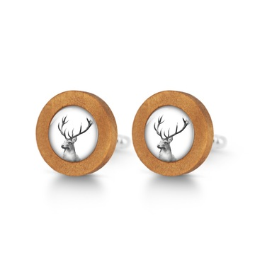 Wooden cufflinks - Deer - Into the wild