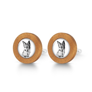 Wooden cufflinks - Lis - Into the wild