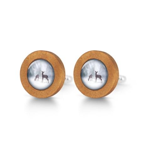 Wooden cufflinks - Roe deer