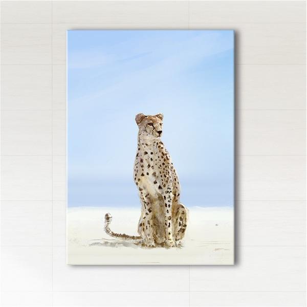 Obraz - Afryka, gepard  - wydruk na płótnie