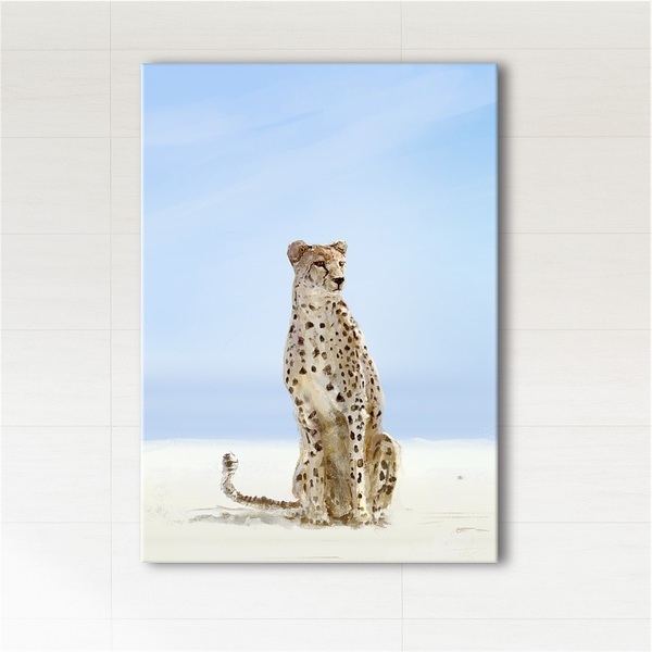 Picture - Africa, cheetah - print on canvas