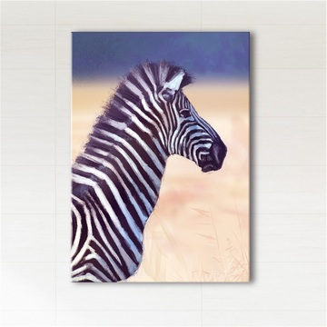 Painting - Africa, zebra - print on canvas