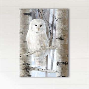Painting - White owl -...