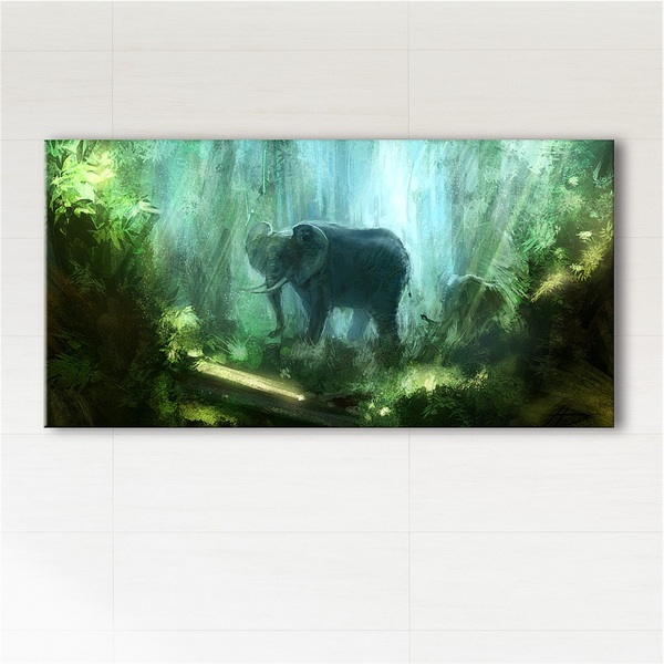 Painting - Jungle - print on canvas