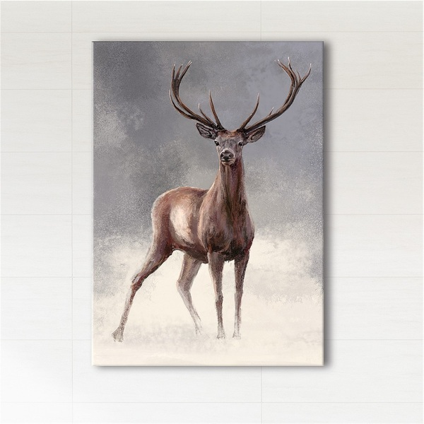 Painting - Scandinavian deer 2 - print on canvas