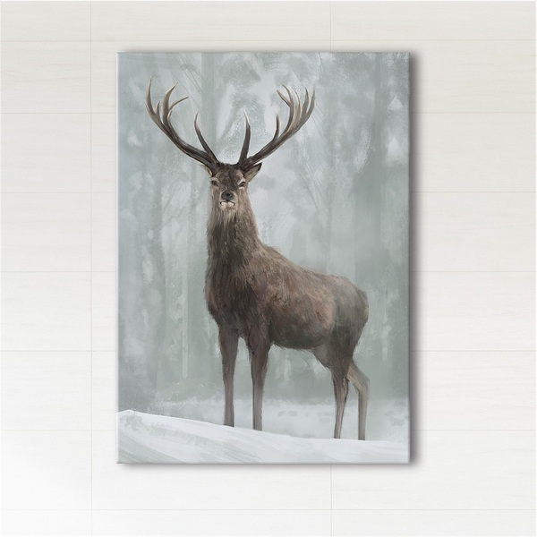 Painting - Scandinavian deer 3 - print on canvas