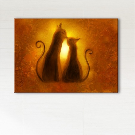 Painting - Cats - print on canvas