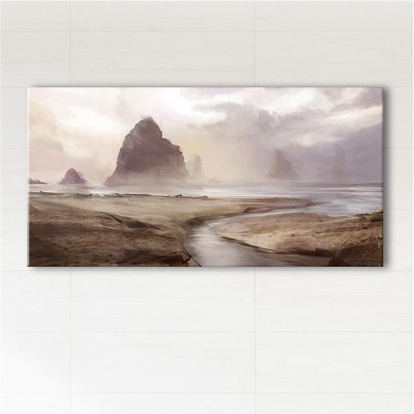 Obraz - Mgliste wybrzeże  - wydruk na płótnie