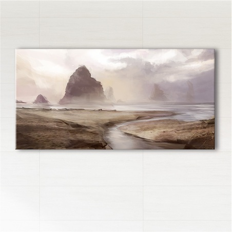Picture - Foggy coast - print on canvas