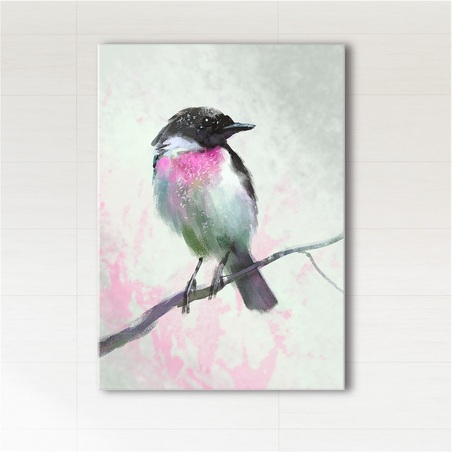 Picture - Pastel bird, Pastel dream - print on canvas