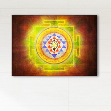 Picture - Shree yantra - print on canvas