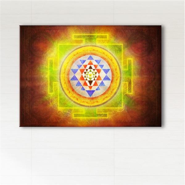 Obraz - Shree yantra  - wydruk na płótnie