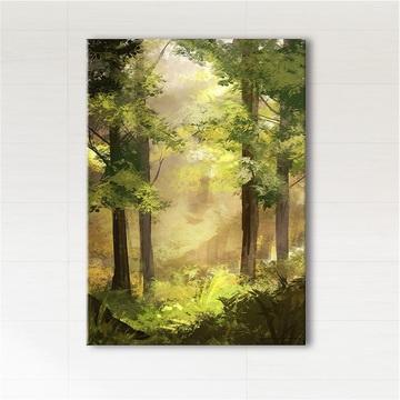 Obraz - Słoneczny las  - wydruk na płótnie