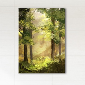 Picture - Sunny forest - print on canvas