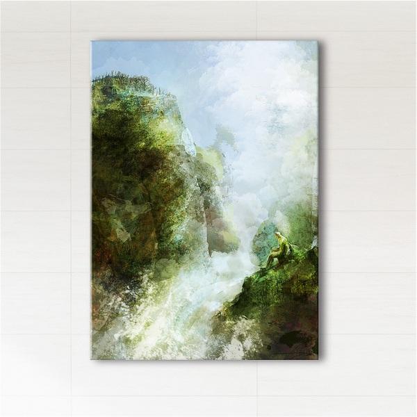 Obraz - Wodospad  - wydruk na płótnie