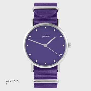 Yenoo watch - Purple - purple, nylon