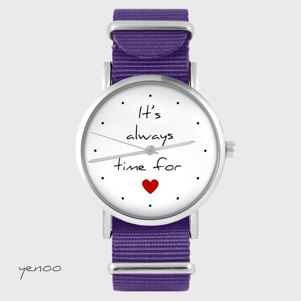 Watch yenoo - It`s always time for love - purple, nylon