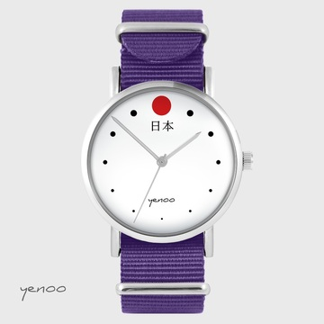 Yenoo watch - Japan - purple, nylon