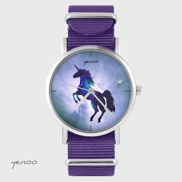 Yenoo watch - Unicorn - purple, nylon