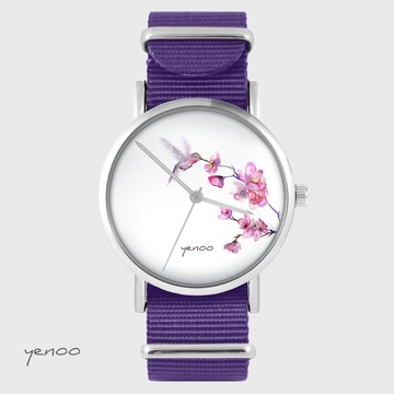 Yenoo watch - Koliber - purple, nylon