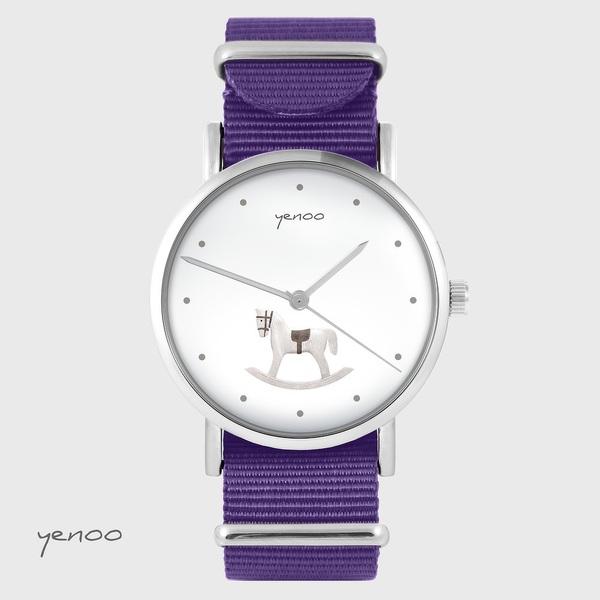 Yenoo watch - Rocking horse - purple, nylon