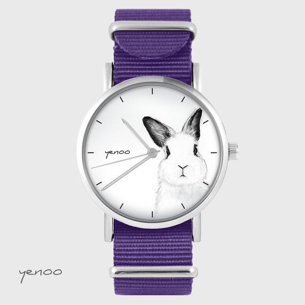 Zegarek yenoo - Królik - fiolet, nylonowy