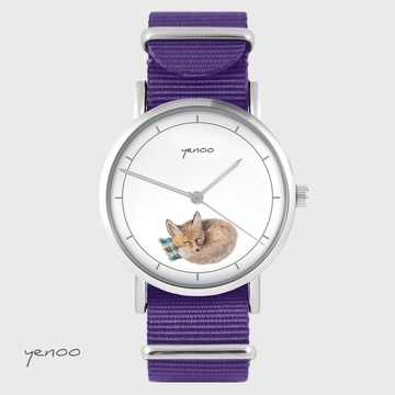 Yenoo watch - Lisek - purple, nylon