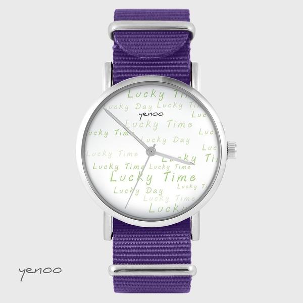 Yenoo watch - Lucky day - purple, nylon