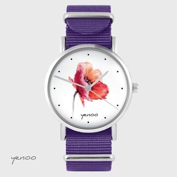 Yenoo watch - Poppy - purple, nylon