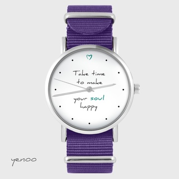 Watch yenoo - Make your soul happy - purple, nylon