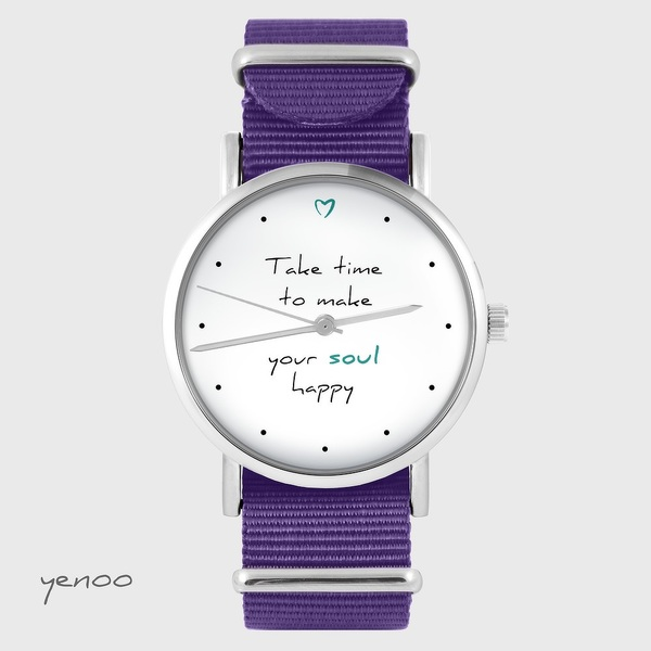 Watch yenoo - Make your soul happy - purple, nylon