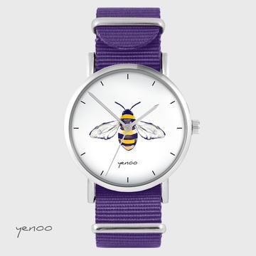 Yenoo watch - Bee - purple, nylon