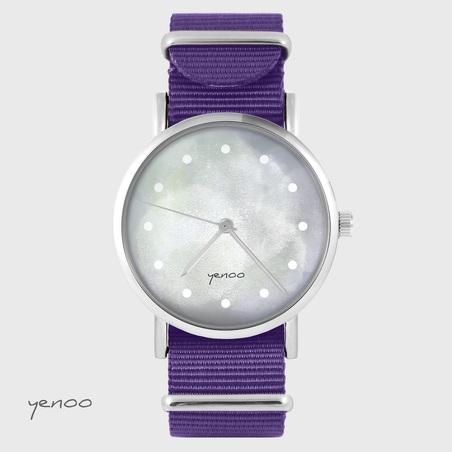 Yenoo watch - Gray - purple, nylon