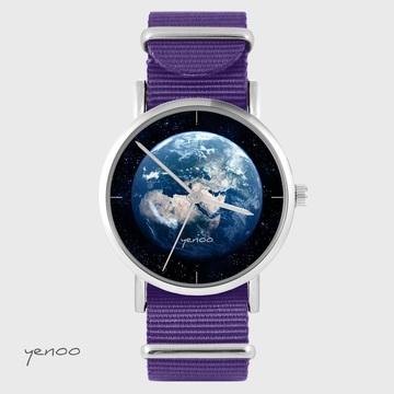 Yenoo watch - Earth - purple, nylon