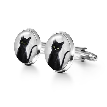 Yenoo Cufflinks - Black Cat
