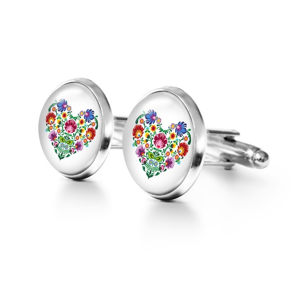 Yenoo Cufflinks - Folk Heart