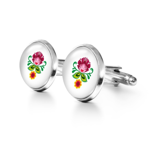 Yenoo Cufflinks - Folk Flower